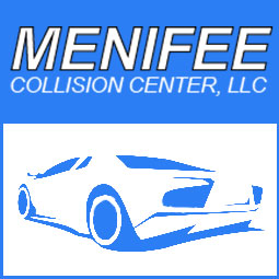 Menifee Collision Center logo with a blue car